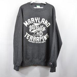 CHAMPION Mens Large Maryland Terrapins Sweatshirt